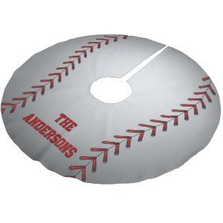 Baseball Graphic Brushed Polyester Tree Skirt