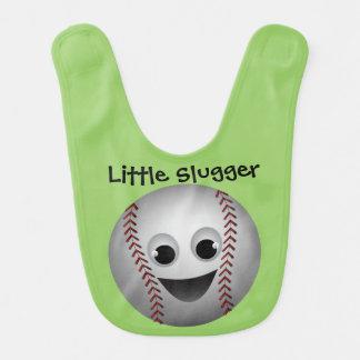 Baseball Graphic Character Smiling Baby Bibs