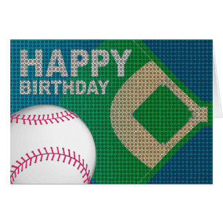 Baseball Happy Birthday Card