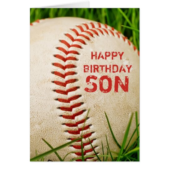 Baseball Happy Birthday Son Card