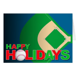 Baseball Happy Holiday Card