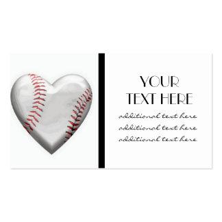Baseball Heart Business Card Template