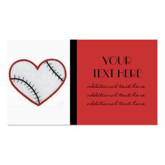 Baseball Heart Pack Of Standard Business Cards
