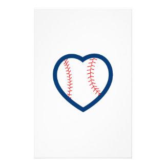 BASEBALL HEART STATIONERY