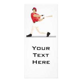 baseball hitter swinging vector graphic rack card