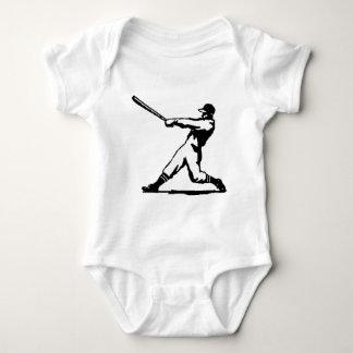 Baseball hitting baby bodysuit