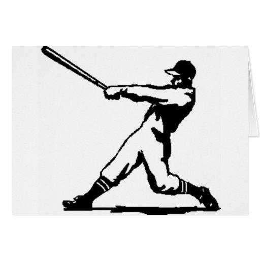 Baseball hitting greeting card