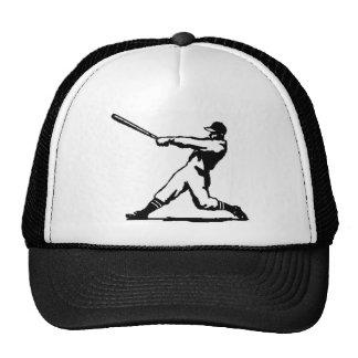 Baseball hitting trucker hat