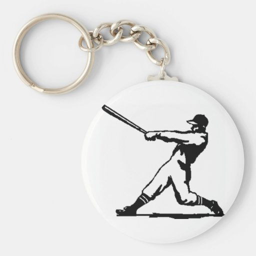 Baseball hitting key chains