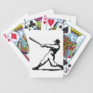 Baseball hitting poker deck