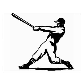 Baseball hitting postcard