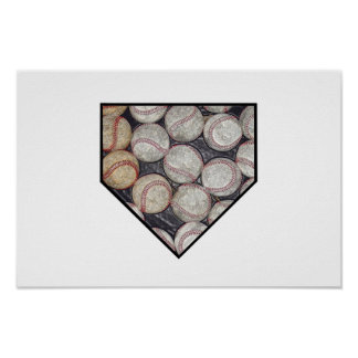 Baseball Home Poster