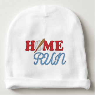 Baseball Home Run, Baby Blue Sports Game Baby Beanie