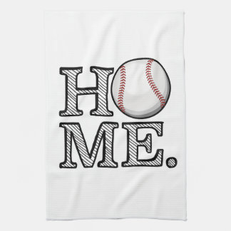 Baseball Home Tea Towel