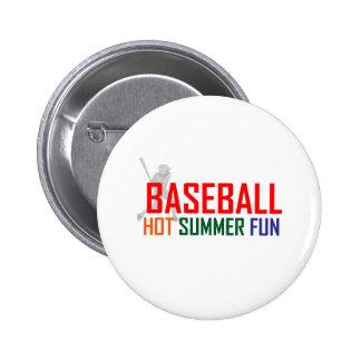 Baseball Hot Summer Fun 6 Cm Round Badge
