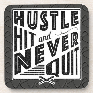 Baseball Hustle Hit Never Quit Coaster Set
