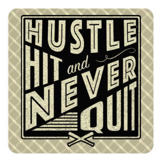 Baseball Hustle, Hit & Never Quit Invitations