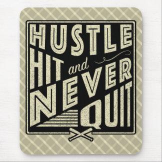 Baseball Hustle Hit & Never Quit Mouse Mat