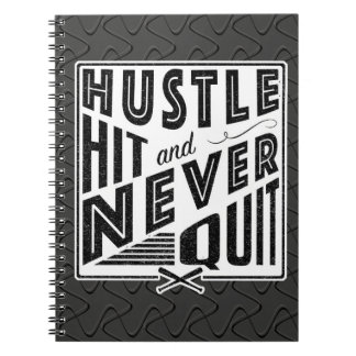 Baseball Hustle Hit & Never Quit Note Pad Notebook