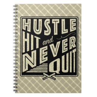 Baseball Hustle Hit & Never Quit Note Pad Notebooks