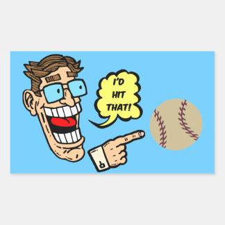 Baseball I'd hit that Rectangular Sticker