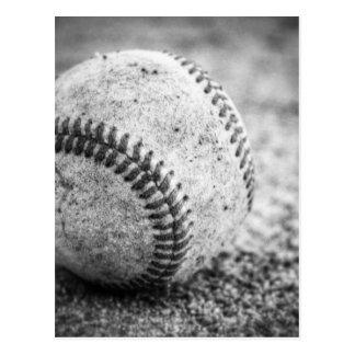 Baseball in Black and White Postcard