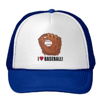 Baseball in Glove: I Love Baseball! Cap