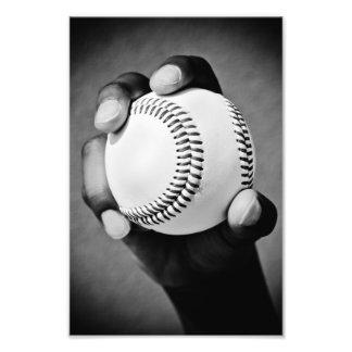 baseball in hand photo