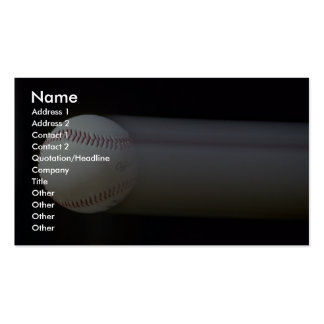 Baseball in motion business card template