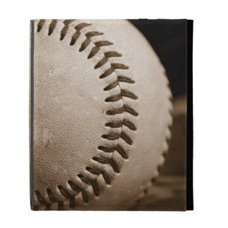 Baseball in Sepia iPad Folio Cover