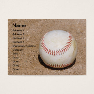baseball in the dirt business card