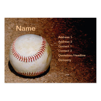 baseball in the dirt pack of chubby business cards