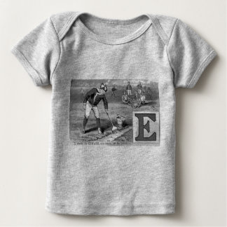 Baseball Initial E Sports Meaning Edward Vintage Baby T-Shirt