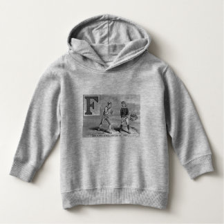 Baseball Initial F Sports Meaning Foul Vintage Hoodie