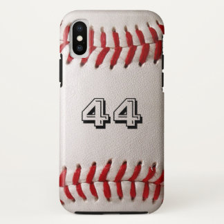Baseball iPhone X Case with customizable number