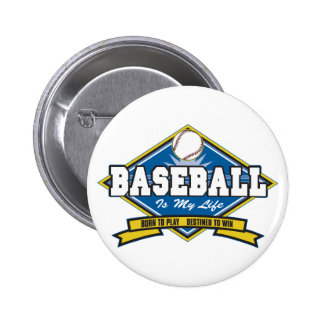 Baseball is My Life 6 Cm Round Badge