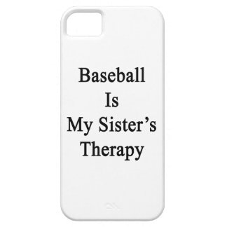Baseball Is My Sister's Therapy iPhone 5 Case