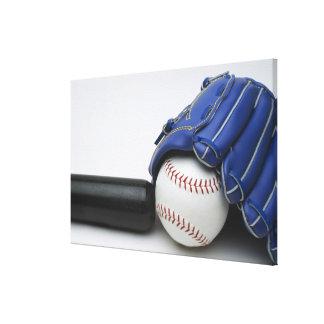 Baseball items canvas print
