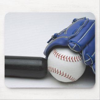 Baseball items mouse pad