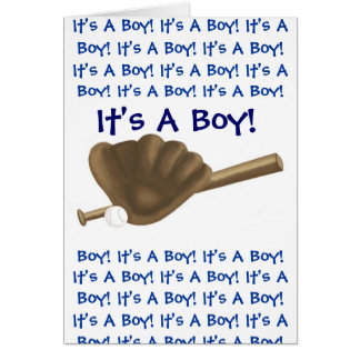 Baseball It's A Boy Announcement Greeting Cards