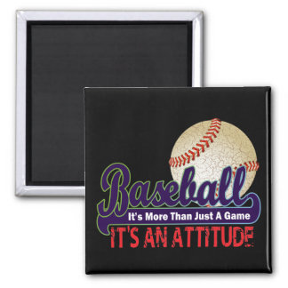 BASEBALL - IT'S MORE THAN JUST A GAME SQUARE MAGNET