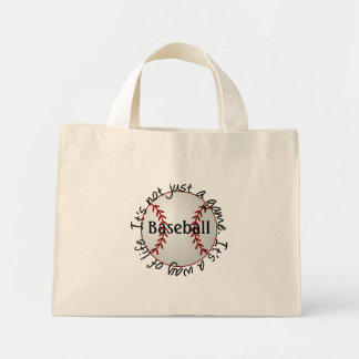 Baseball-its not just a game mini tote bag