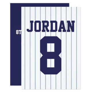 Baseball Jersey - Sports Theme Birthday Party Card