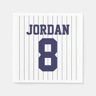 Baseball Jersey - Sports Theme Birthday Party Paper Napkin