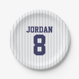 Baseball Jersey - Sports Theme Birthday Party Paper Plate