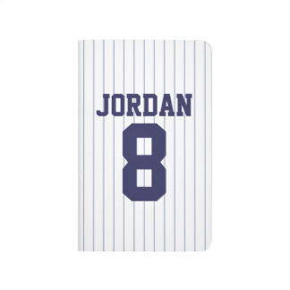 Baseball Jersey with Custom Name and Number Journal