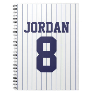Baseball Jersey with Custom Name and Number Notebooks