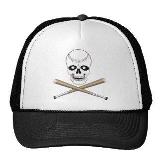 BASEBALL JOLLY ROGER SKULL & CROSS BATS CAP