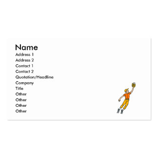 Baseball Jump for Catch Boy Pack Of Standard Business Cards