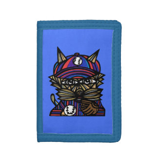 Baseball Kat BuddaKats TriFold Wallet